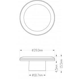 CONO TERMINALE PVC GRIGIO 7035
