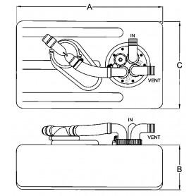 ELETTROPOMPA MARCO UP1-N 24 V 35 L/MIN.