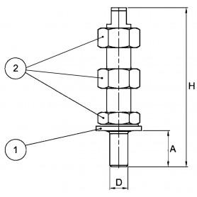 ELETTROPOMPA MARCO UP1-N 12 V 35 L/MIN.