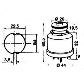 SPIA LED MM.16 ROSSO 12 V