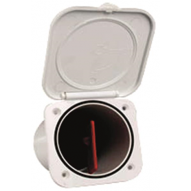 FANALE 360° NERO LED C/ASTA PIEG.