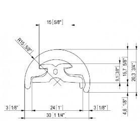 TUBO OVALE PIATTO 50X20X1,5