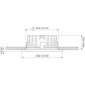 BARRA LED SIMPLY MM.120 B.CALDO 24V