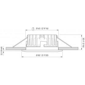 BARRA LED SIMPLY MM.575 B.CALDO 24V