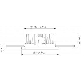 BARRA LED SIMPLY MM.805 B.CALDO 24V