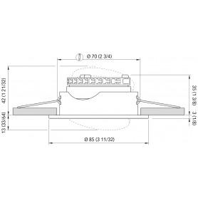 LAMPADA 9 LED SV8.5 MM.42 LUCE ROSSA