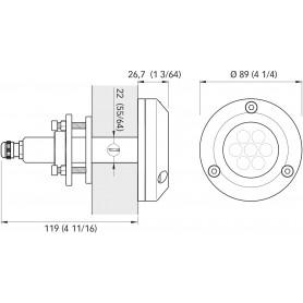 DADO ESAGONALE INOX A4 MM.10